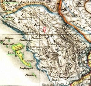 mapa epiro