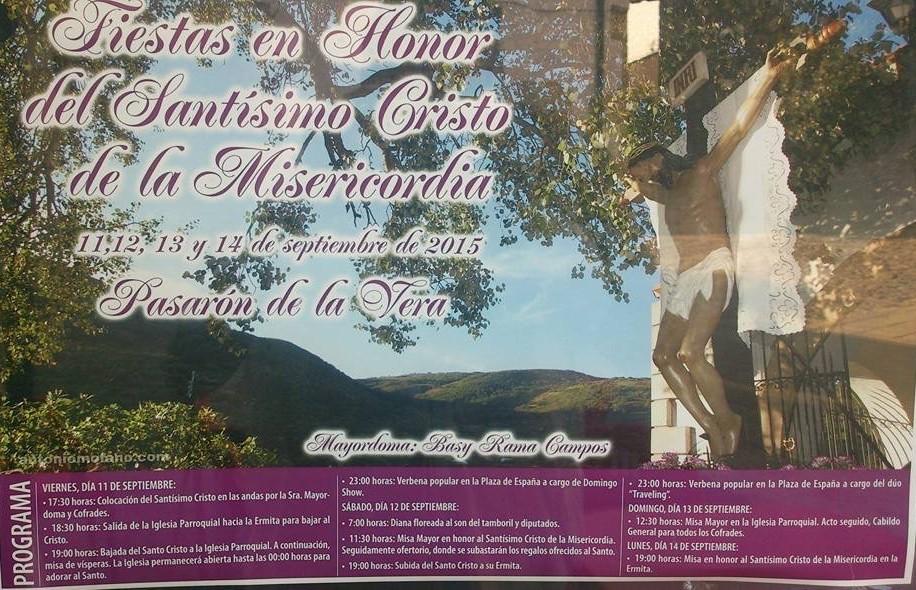 Cartel Fiestas Santisimo Cristo de la Misericordia 2015