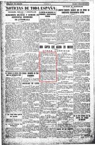 motin en Pasaron  Heraraldo de Madri 17-08-1927